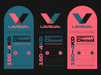 Identity Diesel logo design concept mark brand identity design creative auto automotive teal pink black typography layout print label identity brand
