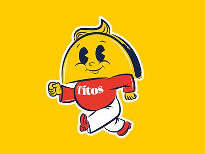 Tito's Tacos Mascot Concept cinco de mayo design concept vector branding yellow red mexican taco mascot old cartoon illustration vintage cute cartoon identity brand identity brand