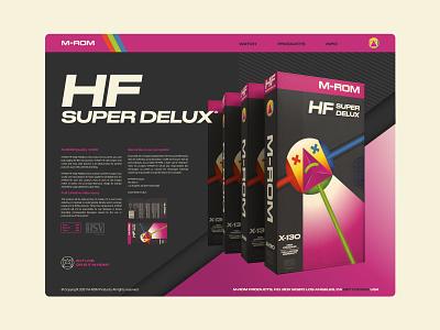 M-ROM HF Super Delux website web packaging ux uxui ui vintage retro 90s 80s vhs creative brand identity brand design branding design branding brand