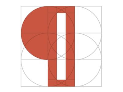 Pilcrow construction pilcrow geometry logo symbol icon construction