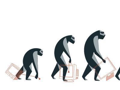 Evolution A monkeys primate evolution illustration
