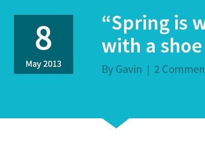 Blog post blog cyan date header arrow
