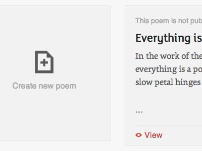 Create new poem poetryzoo tiles typography