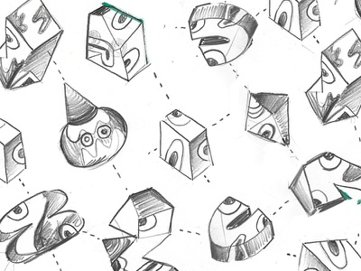 3D THINGS ARE COMING 3d character abstract drawing illustration sketch
