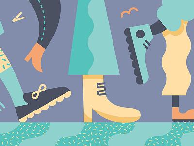 Lotsa legs character design illustration