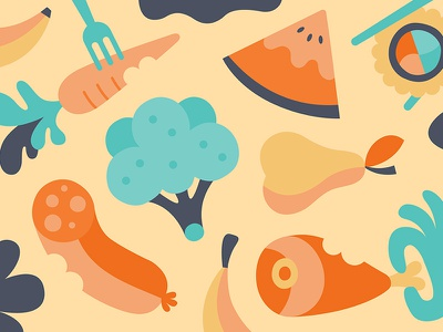 EATING app design illustration
