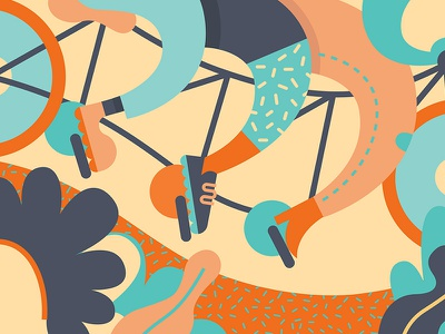 Tandem design illustration