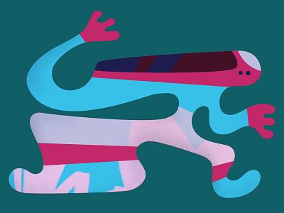 Scream shape colour vector character design illustration