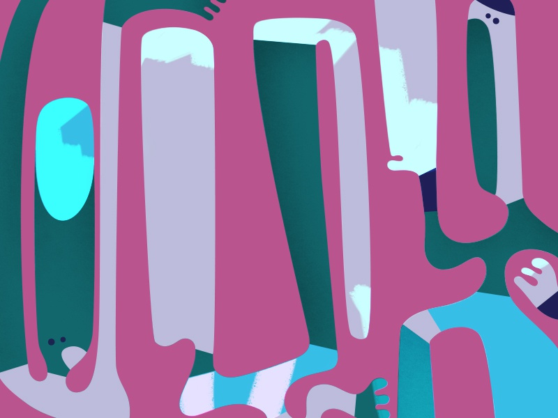 Dance shape colour vector character design illustration