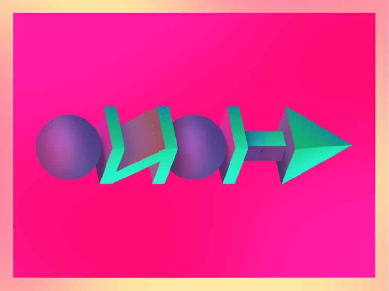>>---> bold shapes 3d shading texture abstract design illustration