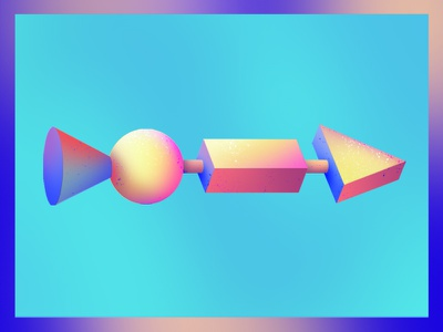 >--0--> bold shapes 3d shading texture abstract design illustration