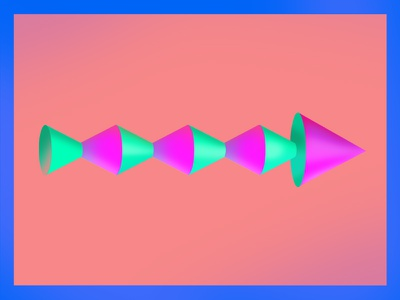 ova there - arrow exploration bold shapes 3d shading texture abstract design illustration