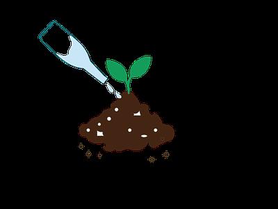 Plant Icon vector graphic design art illustrator web icon branding logo illustration design