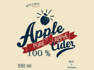 Packaging Apple Cider 100 % packaging typography