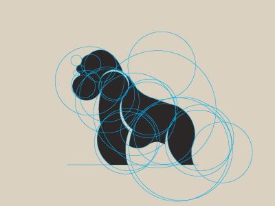 Sketch gorilla vector
