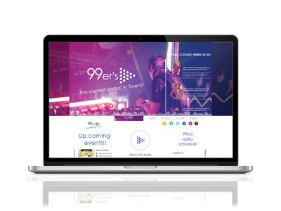 Responsive website rebranding 99ers FM Radio