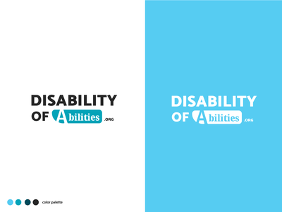 Disability of Abilities - Rebrand user-friendly accessibility web palette mark logo design illustrator identity redesign branding brand nonprofit logo