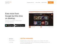 Landpage - Google Desktop Music