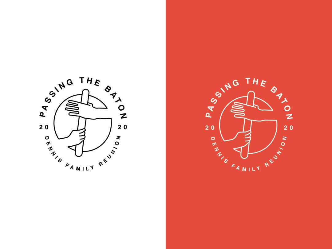 Dennis Family Reunion - Passing The Baton graphic design identity identity design branding logo