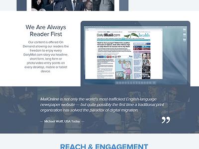 DailyMail.com - Advertising Solutions website dailymail mailonline website template ui ux wordpress advertising responsive