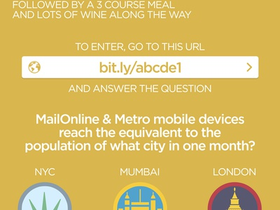 MailOnline Competition landing page mailonline dailymail quiz game ui flow competition landing page form
