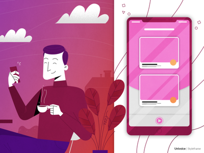 Mobile vector branding ui illustration design