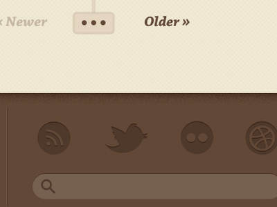 Blog Footer brown cream icons blog footer vintage