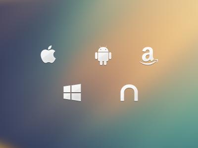 Platform Icons ios android amazon kindle windows nook icons