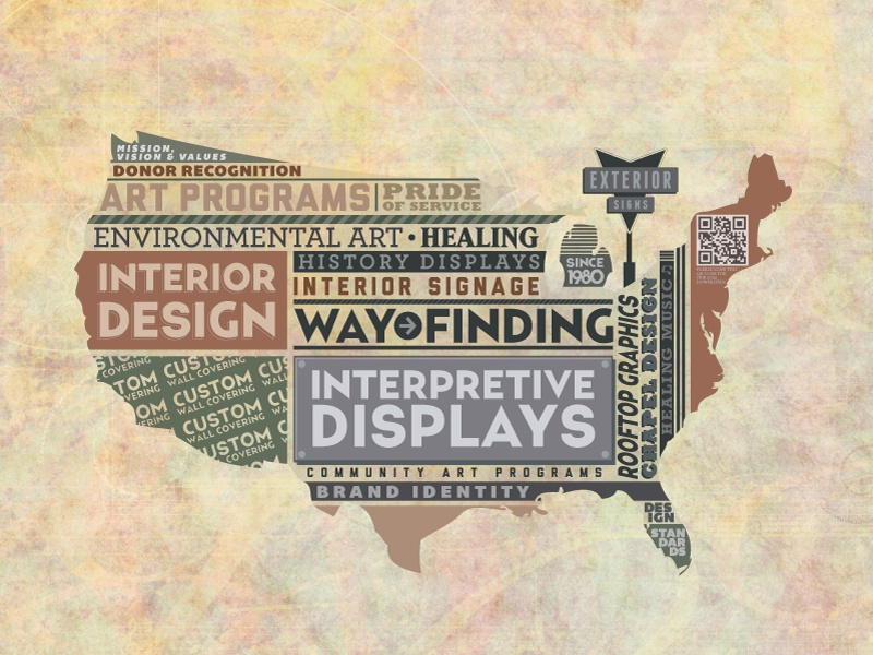 USA Map usa map graphic-design typography type vector