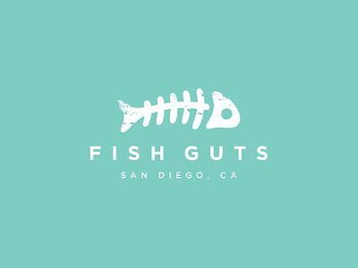 Fish Guts typography character logo mark graphic design branding mark design graphic-design vector logo