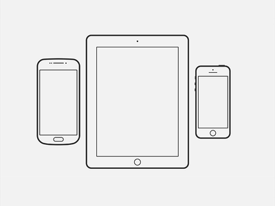 Device Outlines outline ipad tablet iphone android