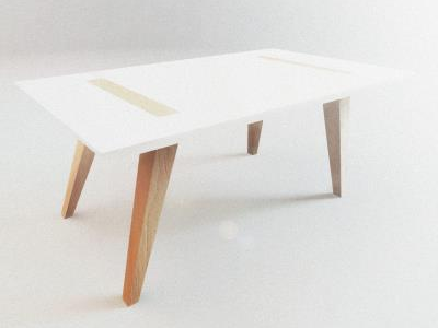 Table design industrial design table wood 3d