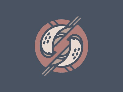 Twin Sparrow branding monoline single stroke sparrow bird circle seal icon illustration logo