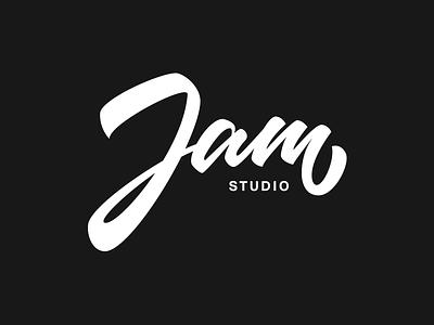 Jam Studio handtype logo logotype brand lettering calligraphy handrawn brush pen