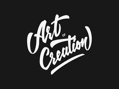 Art of Creation handtype logo logotype brand lettering calligraphy handrawn handlettering