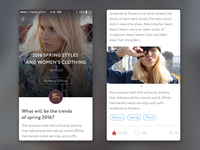 TREND UI KIT – iOS News feed
