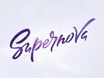 SUPERNOVA light brush star space handtype logo type calligraphy lettering
