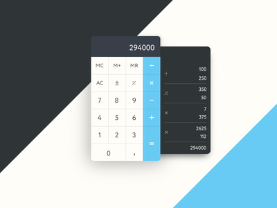 Daily UI 004 – Calculator daily challenge math interface calculator calc ux ui 004 dailyui