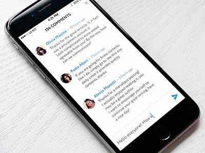 TREND UI KIT – Comments popup comments iphone ios mobile ux kit ui
