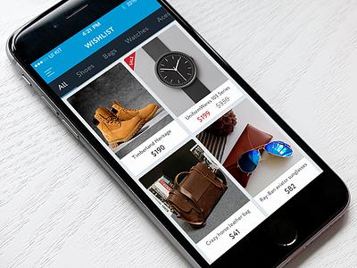 TREND UI KIT – Wishlist shop price e-commerce cards kit iphone ios wishlist ui ux mobile