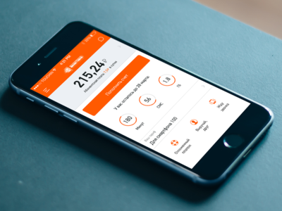Carrier app concept account pay iphone carrier dashboard mobile ui ux ios