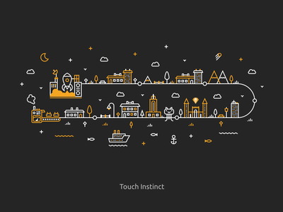 Line Illustrations for Social Network digital cover icons social flat illustration art line