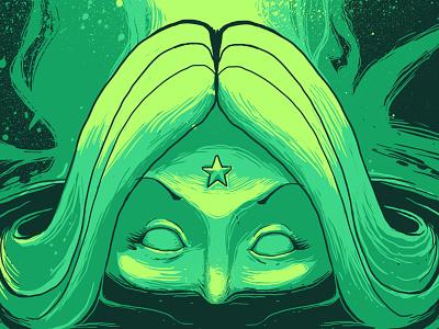 Brazillian Mythology - The legend of Iara illustration detail mythology legend brazillian tshirt tee artwprl