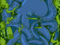 Smoking Octopus - detail