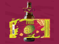Evora's Rauch IPA - Beer label