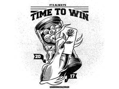 It's Always Time to Win - SOLD! - tshirt artworkforsale designforsale