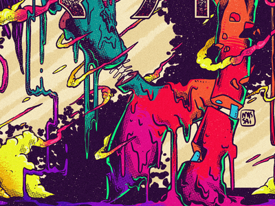 Slimermaid - detail poster psychedelic colorful