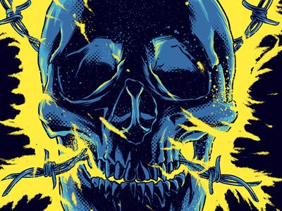 Bolt skull tshirt! tshirt design skull