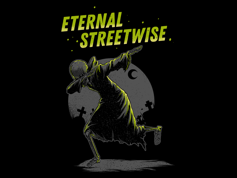 ETERNAL STREETWISE skull apparel design illustration tshirt