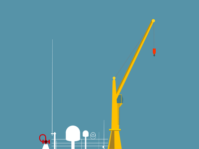 Vector crane doodle
